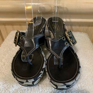 Coach Sherri Signature Wedge Thong Sandals
